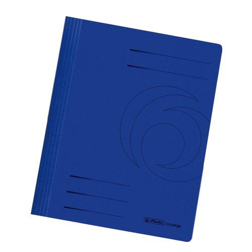 Herlitz 11036969 Schnellhefter A4 Karton gefaltet dunkelblau intensiv 10er Packung