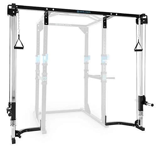 Capital Sports CA - Extension avec câble de Traction latissimus pour Power Rack Cage à Squat...