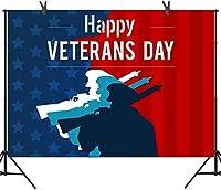 新しい250×180cmの退役軍人の日の写真の背景の星条旗アメリカの兵士の背景スタジオ小道具DSST164