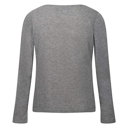 Regatta Frayda Damen T-Shirt/Polohemden/Unterhemden/Polohemden/Westen, leicht in Wolloptik, Grau (Bleigrau)
