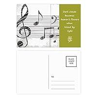 古典的な美しい音楽は単純なパターン 詩のポストカードセットサンクスカード郵送側20個