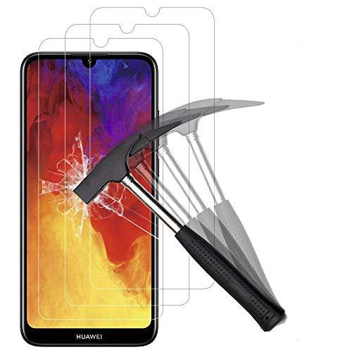 ANEWSIR Schutzfolie Kompatibel mit Huawei Y6 2019/Y6S 2019 Bildschirmschutzfolie [3 Stück] Panzerglasfolie, Einfache Installation, Ohne Luftblasen, Bildschirmschutz Folie.