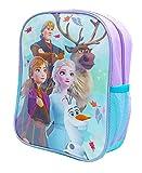 Mochila escolar oficial para niños y niñas con bolsillo lateral de malla, frozen, 33 x 25 x 10cm,