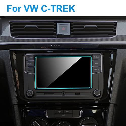 Rotector de pantalla de coche Protector de pantalla de coche de 6,5 pulgadas compatible con Volkswagen VW C-TREK 2017-2020 Película protectora para salpicadero de navegación GPS para interior de coche