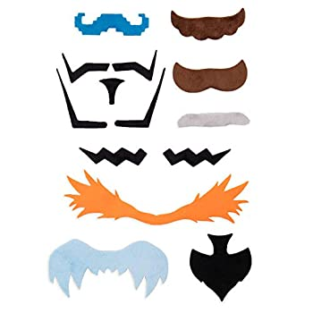 Super Moustachio Bros Fake Mustaches for Video Game Character Costumes & Cosplay   Top 10 Gamer Mustaches Mario Luigi & More   Self-Adhesive Stick On Novelty  Staches for Nerds Geeks & Gamers
