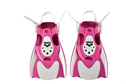 ARENA Erwachsene Unisex Trainings-Flosse Powerfin Fit Trainingsflosse, White-pink, M
