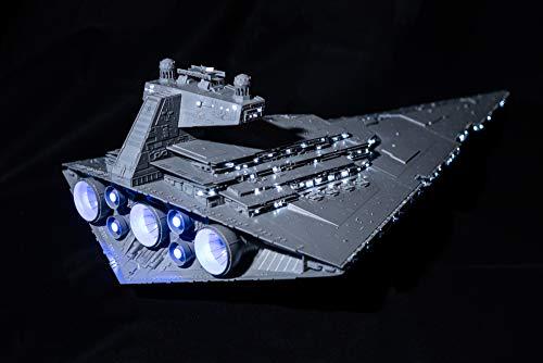 LED Lighting Set + Star Wars Imperial Class Star Destroyer Model Kit for Adults and Kids Zvezda 9057