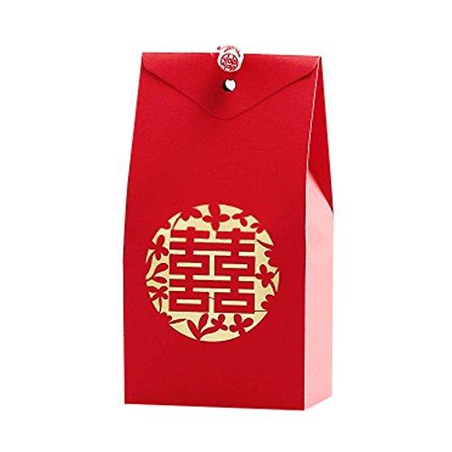Panda Legends 40 Stücke Rot Süße Hochzeit Pralinenschachtel Papier Schokolade Geschenkboxen Chinesischen Stil Hochzeit Gefälligkeiten Pralinenschachteln