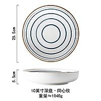 プレートクリエイティブセラミックプレートステーキディッシュプレートウエスタンプレート寿司プレート和風フィッシュプレートディナープレート家庭用食器-8.96インチの赤い顔