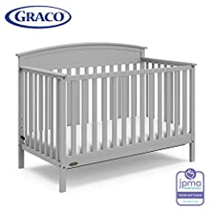 4-IN-1 CRIB: Easily converts from crib to toddler bed, daybed, and full-size bed with headboard (mattress sold separately) ADJUSTABLE MATTRESS HEIGHT: With its 3 adjustable mattress support base heights, the Graco Benton ensures convenience for paren...