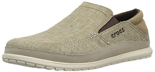 Crocs Herren Santa Cruz Playa Slip-on Slipper, Braun (Khaki/Stucco 26p), 45 EU