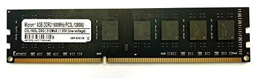 Micron 3rd 8GB DDR3 1600MHz PC3L 12800U Dimm 240PIN Low Voltage Arbeitsspeicher RAM Memory