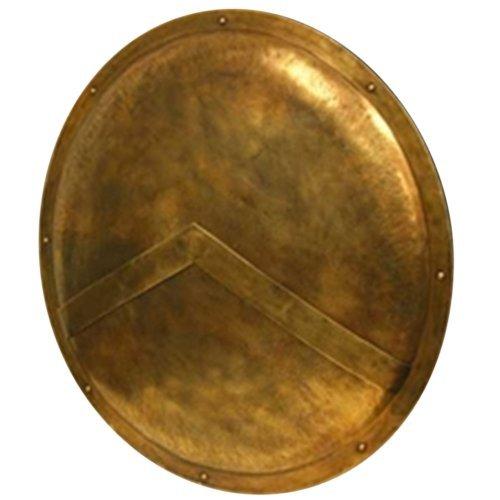 '300' Spartan Shield Full Size Replica 30' Official Replica - Brass Antiqued