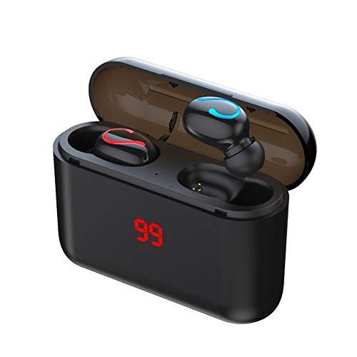 Yuxahiug Bluetooth 5.0 for Auriculares estéreo inalámbrico Headphons Deporte Manos Libres Auriculares 3D Gaming Headset con el Mic de Carga Box