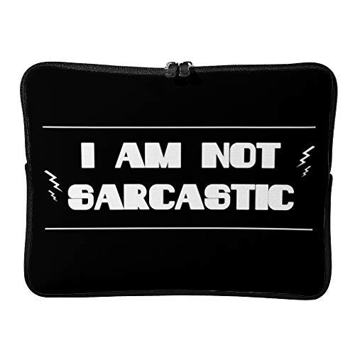Bolso mensajero I Am Not Sarcastic Durable simple funda para portátil para hasta 16 pulgadas Laptops blanco 12 zoll