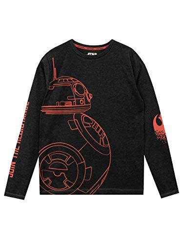 Star Wars - Camiseta de Mangas largas para niño BB8-7 - 8 Años