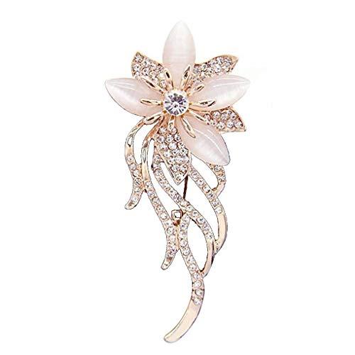Guangcailun Broche Flor de Las Mujeres Pin niña de Las Flores Vestido de Novia de la Boda Pin Clips Bufanda de la joyería Collar Broche
