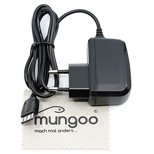 Ladegerät passend für Siemens A51, A52, A55, A60, A65, A70, A75, C55, C60, C62, C65, C70, C72, C75, M55, M65, M75, S55, S65, S75, SL65, SL75 (Ersetzt Siemens ETC-500) mit mungoo Bildschirmputztuch