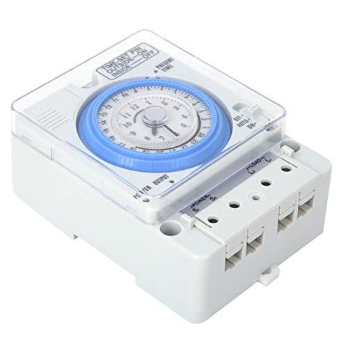 Temporizador Mecánico TB388 15 Minutos 24 Horas Rele Interruptor Tiempo AC 220v 10A Temporizador Interruptor Luz con Batería Extraíble