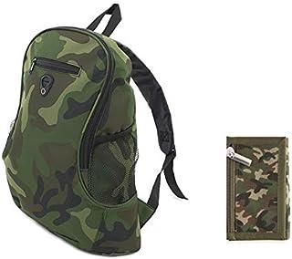 Pack Mochila y Monedero Camuflaje Militar, 2 artículos