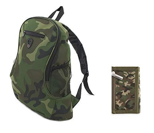 Club Nautico Pack Mochila y Monedero Camuflaje Militar, 2 artículos