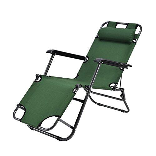 Chaises pliantes Chaise pliante inclinable sieste lit vert bureau lit chaise chaise portable multi-usages déjeuner pause chaise (Color : Green)