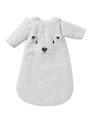Vertbaudet Schlafsack Teddy, abnehmbare Ärmel wollweiß 70