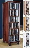 VCM Valenza-Torre para CD/DVD, girable, para 300 CDs, Efecto Corte de Sierra, Color, Roble Sonoma