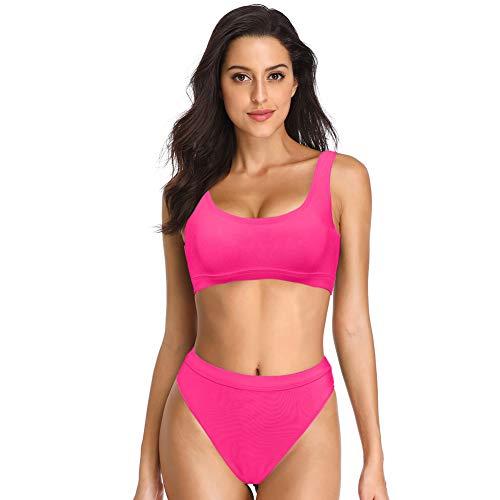 Dixperfect Two Pieces Bikini Sets Swimsuit Sports...