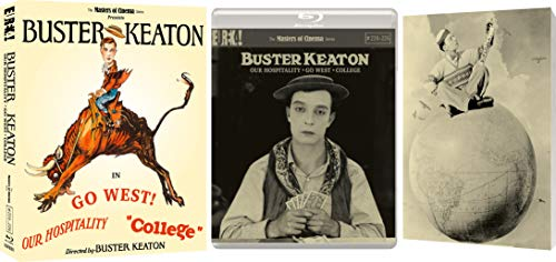 Buster Keaton: 3 Films (Volume 3) (Our Hospitality, Go West, College) (Masters of Cinema) Limited Edition Blu-ray Boxed Set [2020]