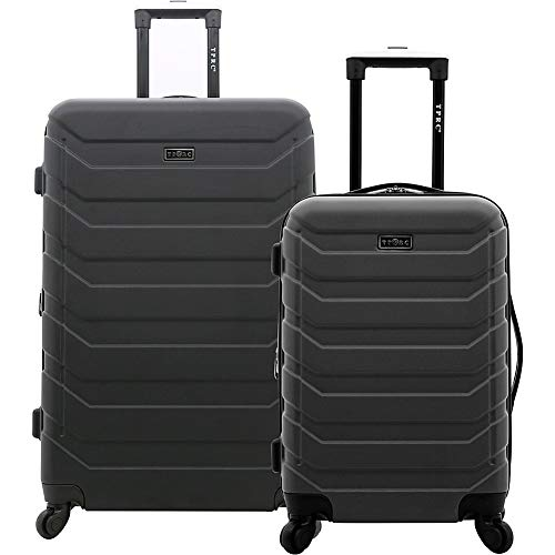 TPRC Madison Heights Expandable Spinner Hardside Luggage Set, Black, 2-Piece (28' and 20')