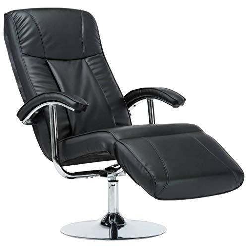 vidaXL TV Sessel Fernsehsessel Relaxsessel Liegesessel Ruhesessel Liegestuhl Polstersessel Relaxliege Ledersessel Bürosessel Schwarz Kunstleder