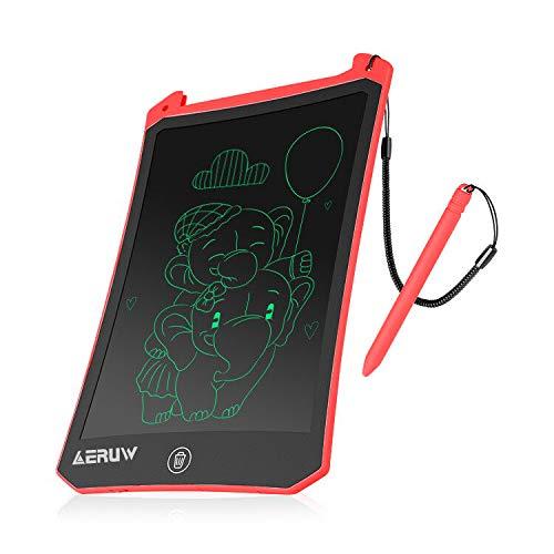 ERUW Tableta de Escritura LCD 8,5 Pulgadas, Tablet Escritura Pantalla LCD eWriters Infantil Tableta Grafica Dibujo Niños Adecuada para el Hogar, Escuela, Oficina, Cuaderno de Notas (Red)