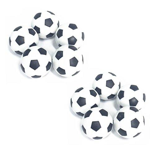 PEIUJIN 10 Stück Tischfußball Kickerbälle, Kicker Bälle aus ABS hart und schnell, Durchmesser 31mm, Schwarz Weiß (Typ A 10 Pcs)