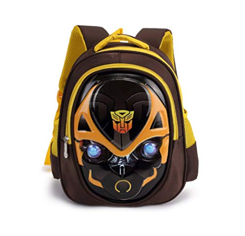 XIAOMIN Boy's Bumblebee Cartoon Transformers Shape School Backpack Mochila,A-30 * 26 * 12cm