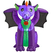 Home Accents Holiday 3.5 ft. Purple Baby Dragon with Wings Halloween Inflatable