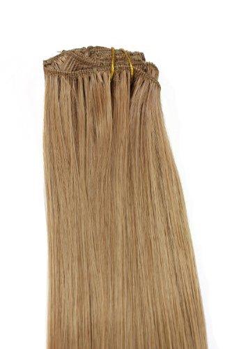 WIG ME UP - 8 sets d'extensions clip-in complets tête blond cendré (15) Longueur 40 cm EX03-15