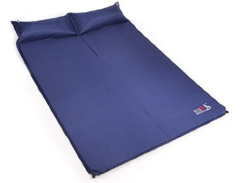 KingMys BSWolf Blow-up Double-Size Sleeping & Camping Mat Q3006-B - Sapphire Blue