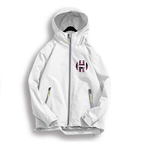 Harden 13 Rockets - Chaqueta de baloncesto con capucha para hombre y mujer, ropa deportiva casual, chaqueta de punto blanco, XXXXL