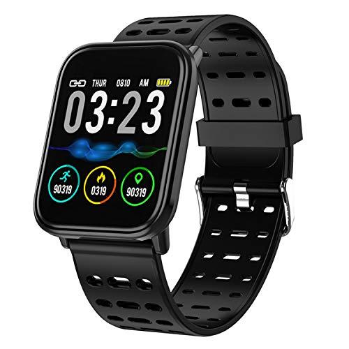 Vococal T6 Mode Podomètre Étanche Sport Fitness Tracker Bracelet Intelligent Montre Smartband pour Hommes Femmes Garçons Filles Utilisation Quotidienne Noir