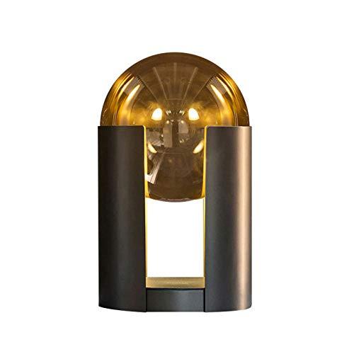 KANGLE-DERI Lámpara De Mesa LED De Hardware De Estilo Minimalista, Lámpara De Lectura De Cabecera con Pantalla De Vidrio, Luz De Noche De Decoración Artística Casera Romántica Cálida Personalizada