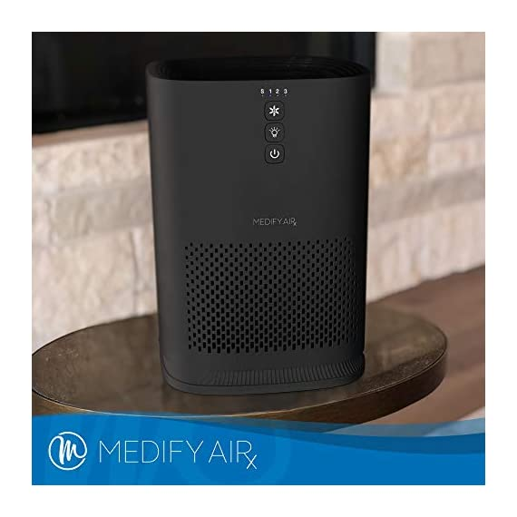 Medify Air MA-14-B1 Air Purifier with H13 HEPA filter - a higher grade of HEPA for 200 Sq. Ft. (99.9%) Allergies, dust… 6 Medical Grade H13 True HEPA Filter (higher rated than True HEPA) 99.97% particle removal CADR of 120 | Cleans up to 470 sq. ft.in an hour. 235 sq. ft. in 30 minutes. 117 sq. ft. in 15 minutes | Perfect for Office, Bedroom, Dorms, Baby Nurseries 3 Fans Speeds | Night Light | Sleep Mode
