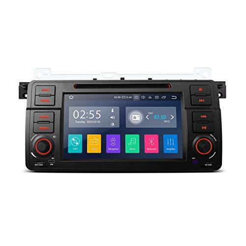 "XTRONS 7\"" Android 10.0 Autoradio Quad Core 2GB RAM 16GB ROM mit Touch Screen Autostereo Auto Multimedia DVD Player unterstützt 3G 4G Bluetooth RCA Ausgang DAB & OBD2 TPMS FÜR BMW E46"
