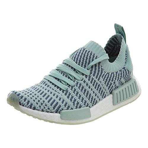 adidas NMD_R1 STLT Primeknit W, Ash Green / Raw Steel-footwear White, 7.5