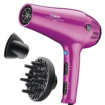 Conair 1875 Watt Cord-Keeper Hair Dryer  Pink