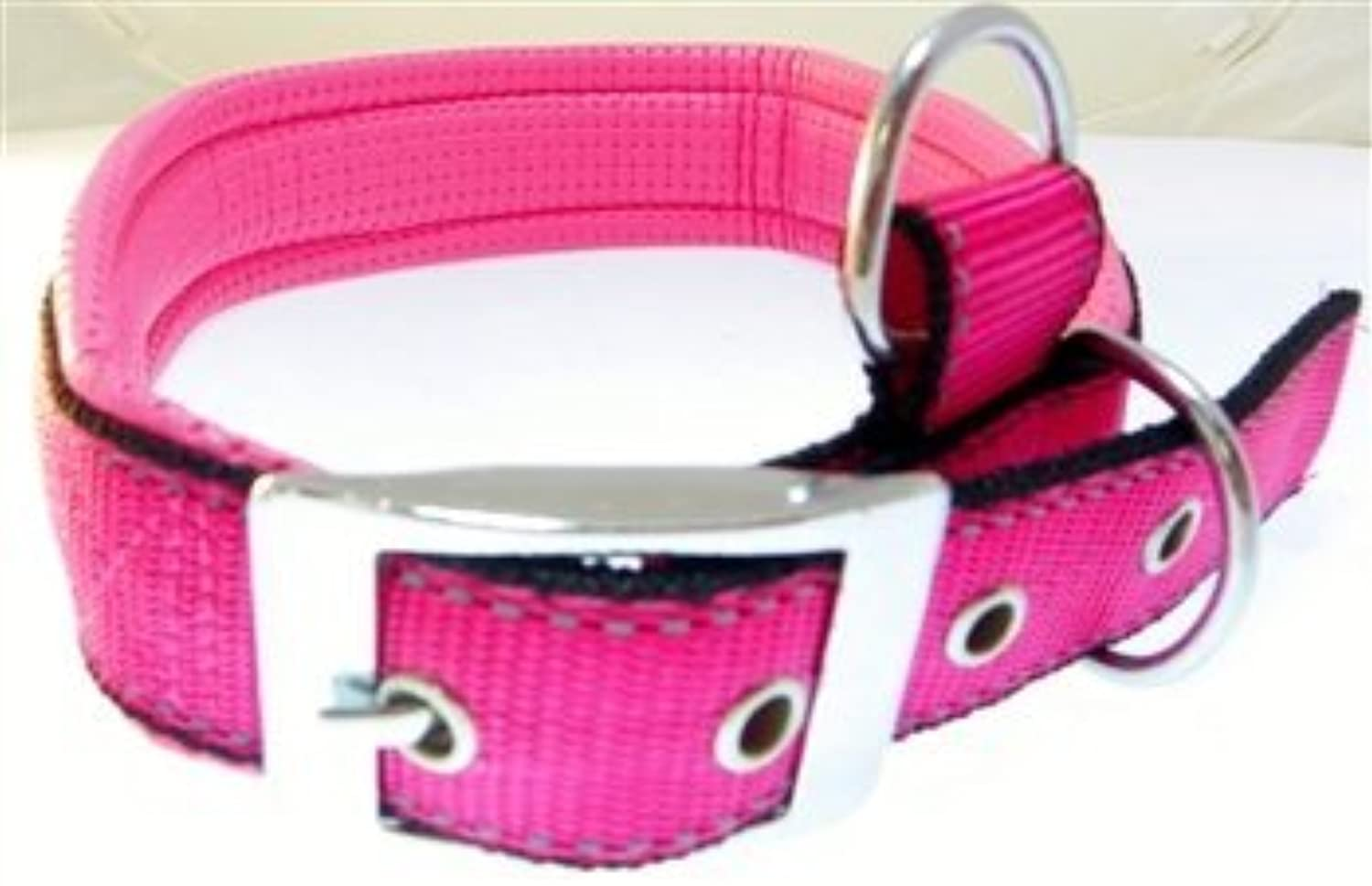 Champion Pets Reflective Padded Large Dog Collar (Pink)