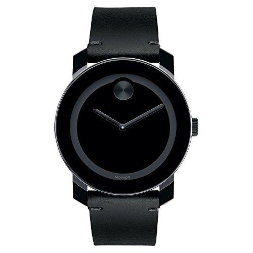 Movado Bold Reloj Analógico para Hombre de Cuarzo con Correa en Cuero 03600306