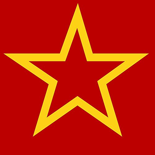 magFlags Drapeau Large Soviet Flag Red star2 | Darker Version of Image Soviet Flag Red Star | 1.35m² | 120x120cm
