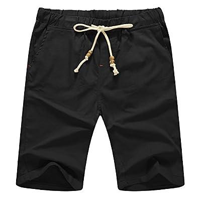 Men's Linen Casual Classic Fit Short Summer Beach Shorts
