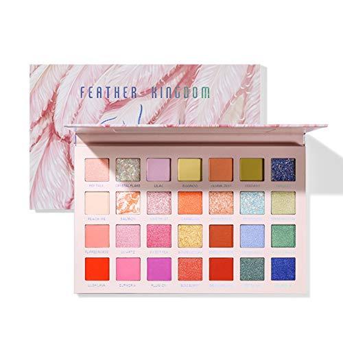 Weixinbuy 28 Color Eyeshadow Palette Matte Pearl Cosmetics Makeup Waterproof Easy To Wear Eye Shadow Professional Makeup Full